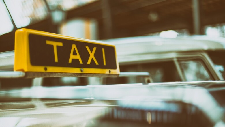 Taxi sign cab transportation car 59723